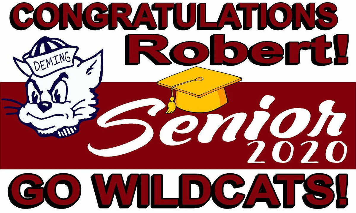 Deming High School Senior Banner - Ragged Apparel Screen Printing and Signs - www.nmshirts.com