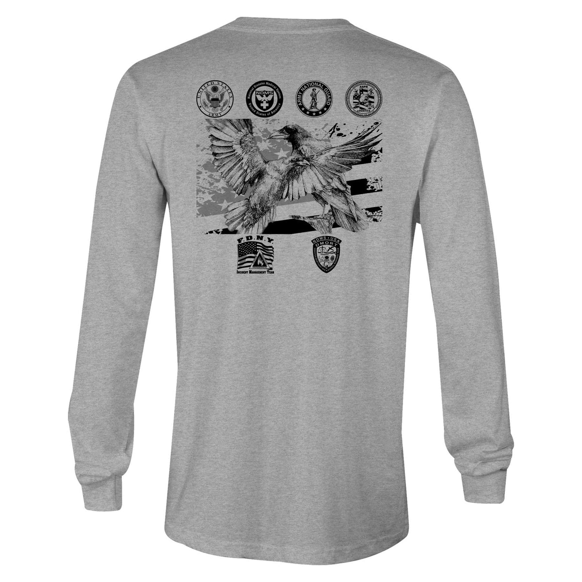 Raven Deployment Longsleeve Cotton Softstyle T-Shirt