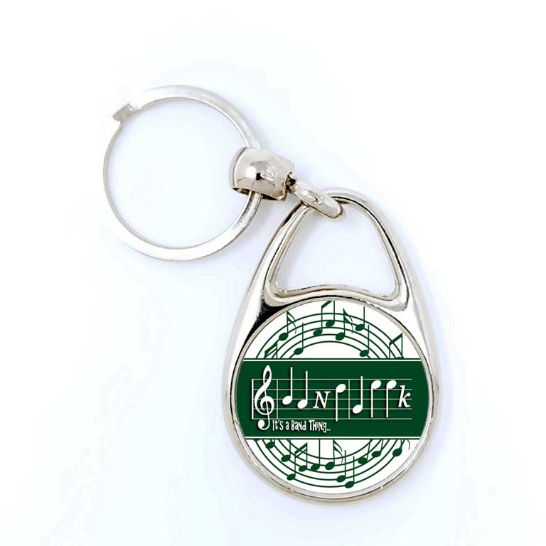 Band Geek Marching Band Music Lover Personalized Keychain - Ragged Apparel Screen Printing and Signs - www.nmshirts.com