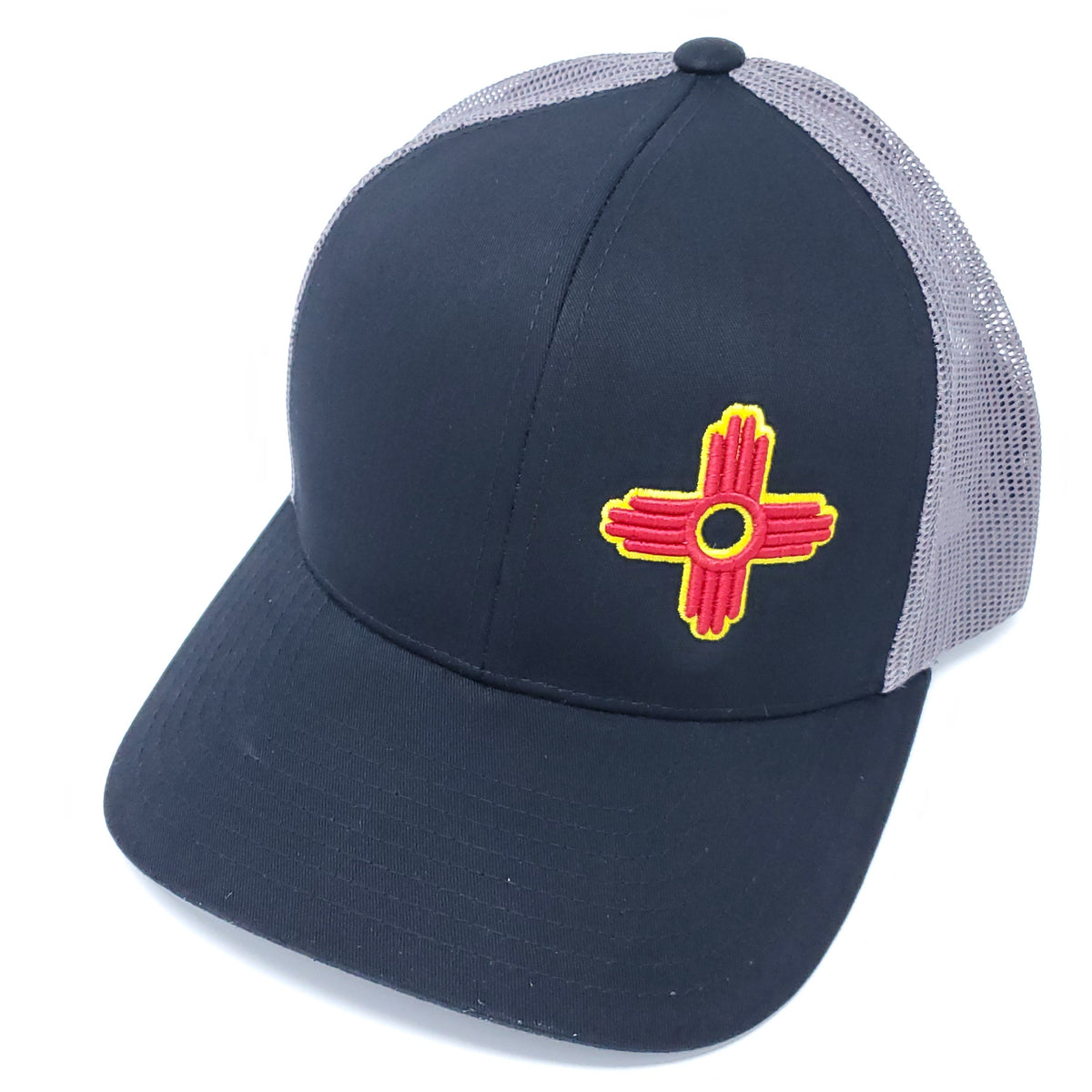 Zia Embroidered Trucker Style Snapback - Ragged Apparel Screen Printing and Signs - www.nmshirts.com