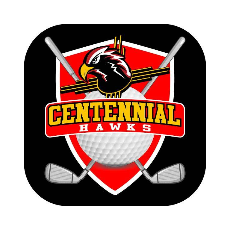 Centennial Hawks Golf Graphic Decal - Ragged Apparel Screen Printing and Signs - www.nmshirts.com
