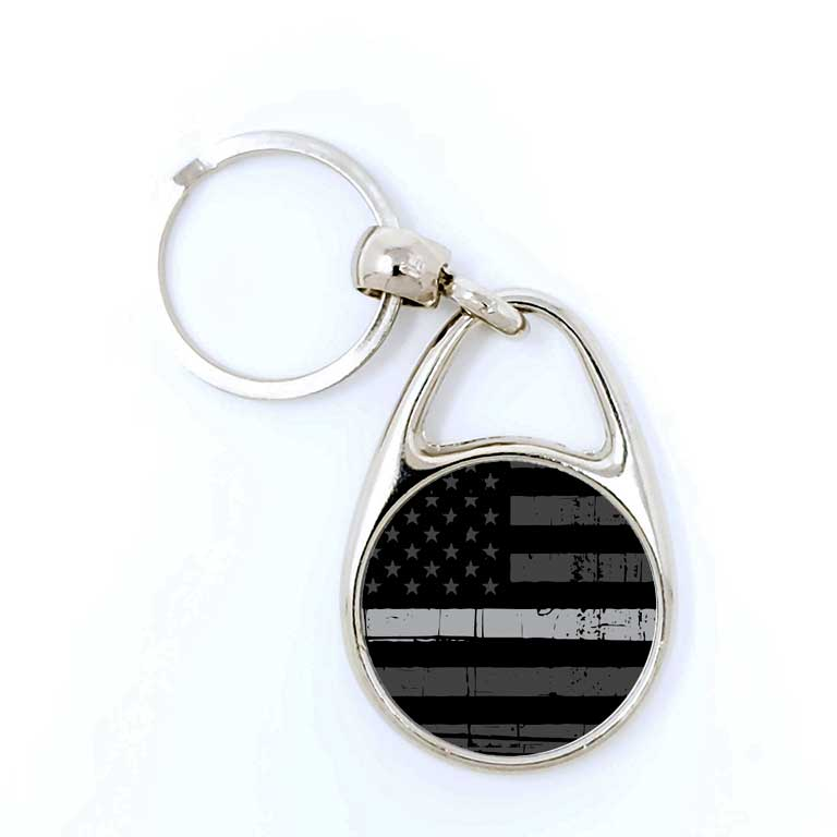 Corrections Thin Grey Line Keychain - Ragged Apparel Screen Printing and Signs - www.nmshirts.com