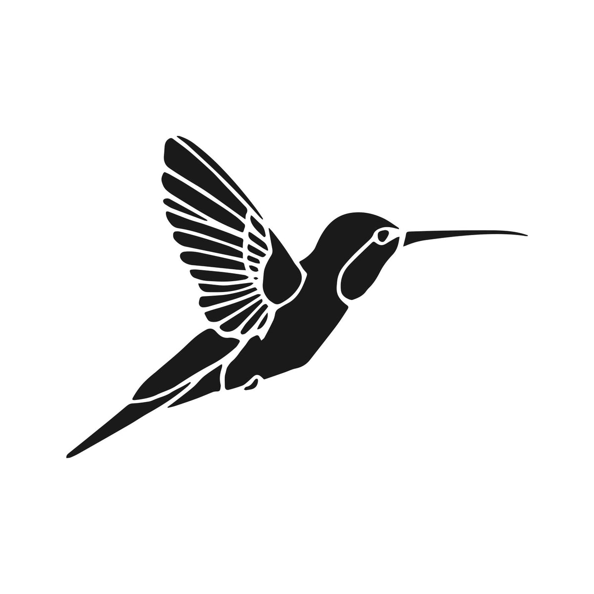 Hummingbird Vinyl Sticker Graphic Decal - Ragged Apparel Screen Printing and Signs - www.nmshirts.com