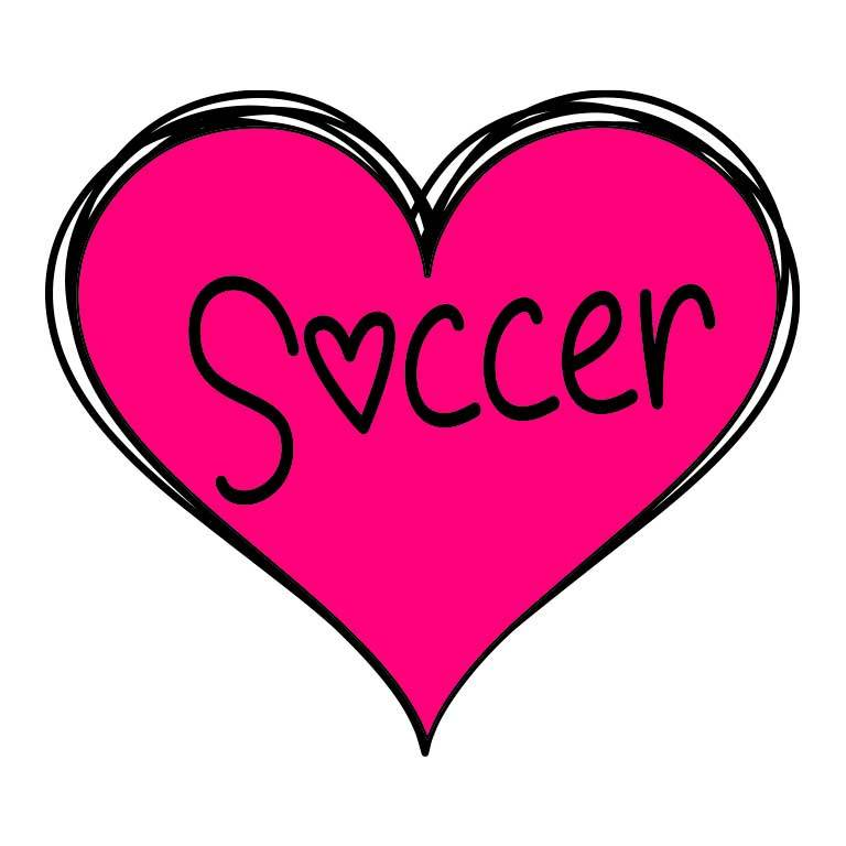 Soccer Heart Graphic Decal - Ragged Apparel Screen Printing and Signs - www.nmshirts.com