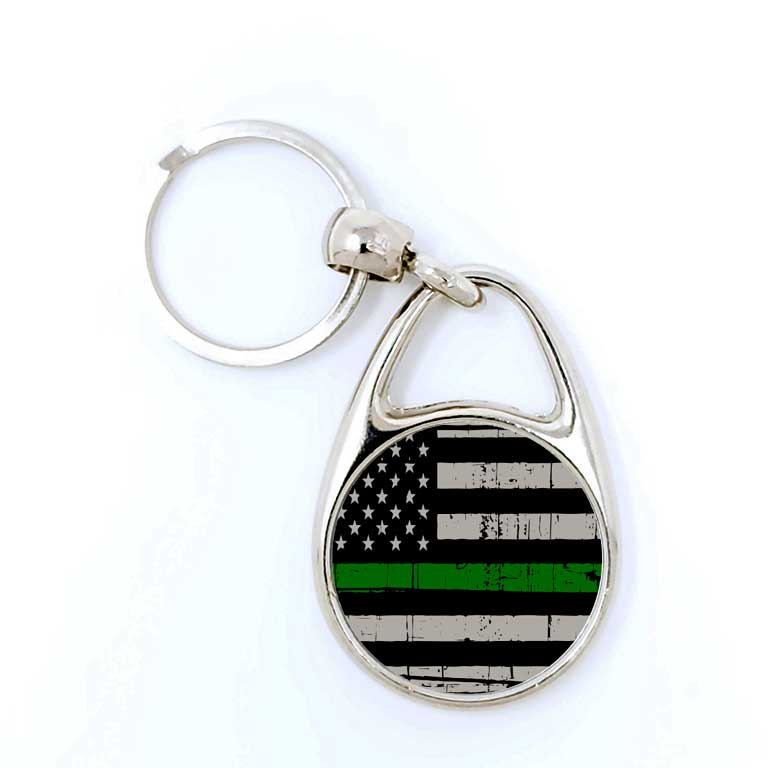Military Thin Green Line Keychain - Ragged Apparel Screen Printing and Signs - www.nmshirts.com