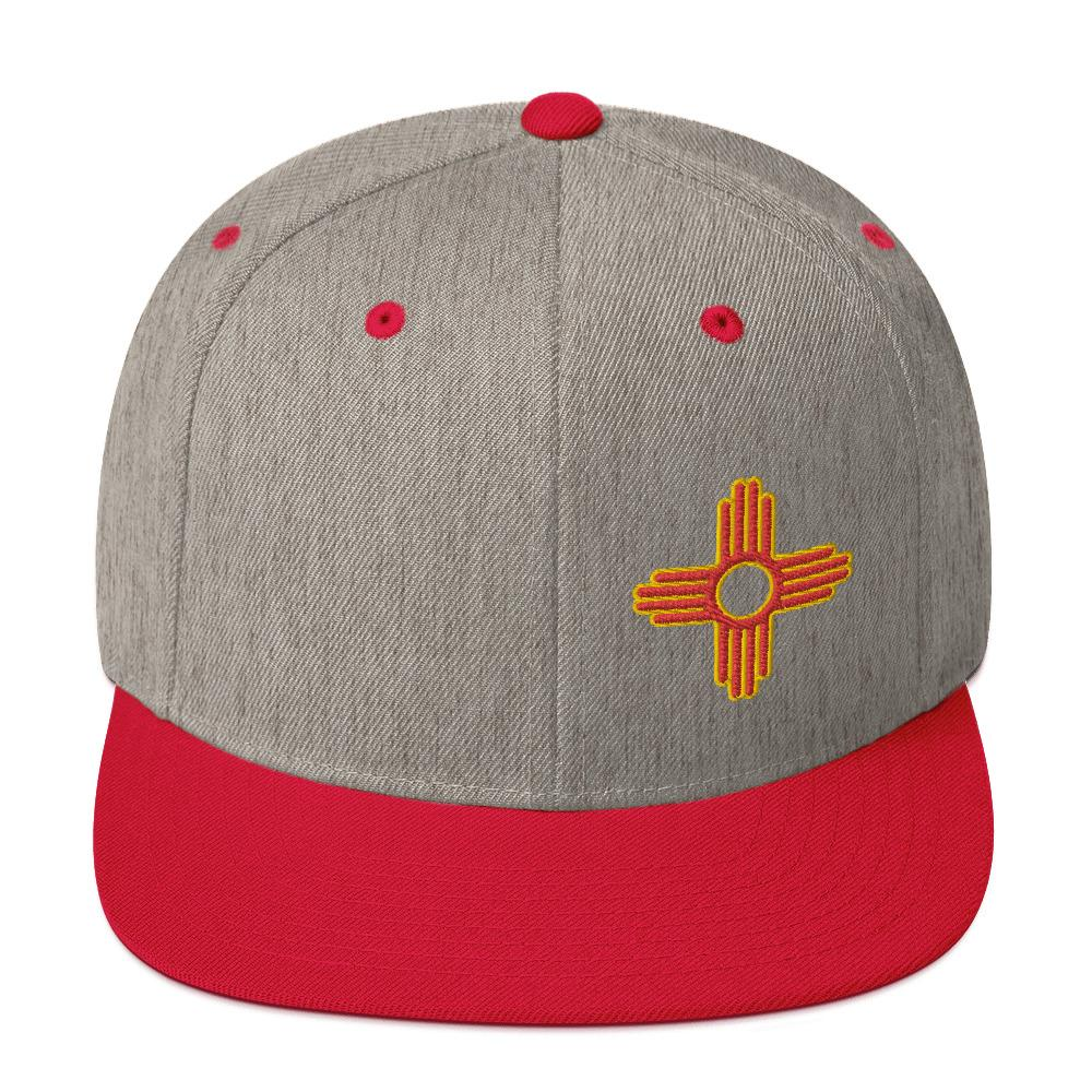 Embroidered Zia Classic Snapback - Ragged Apparel Screen Printing and Signs - www.nmshirts.com