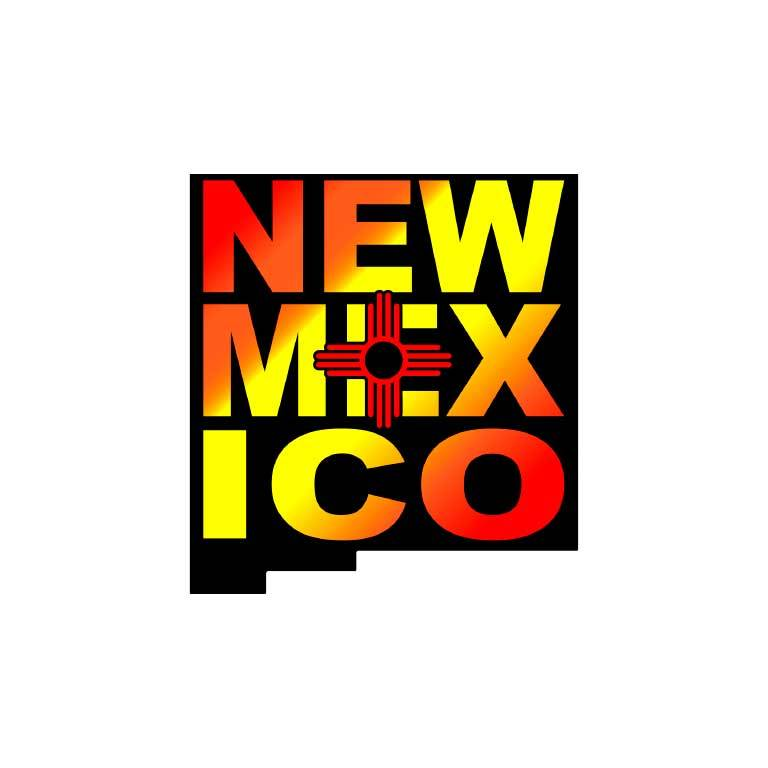 New Mexico State Shape Graphic Decal - Ragged Apparel Screen Printing and Signs - www.nmshirts.com
