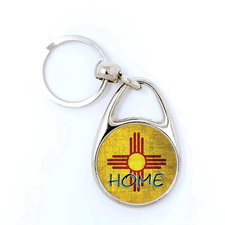 New Mexico Zia Home Keychain - Ragged Apparel Screen Printing and Signs - www.nmshirts.com
