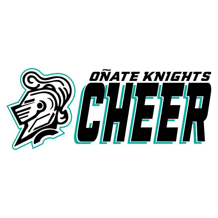 Onate High School Knights Cheerleading Graphic Decal - Ragged Apparel Screen Printing and Signs - www.nmshirts.com