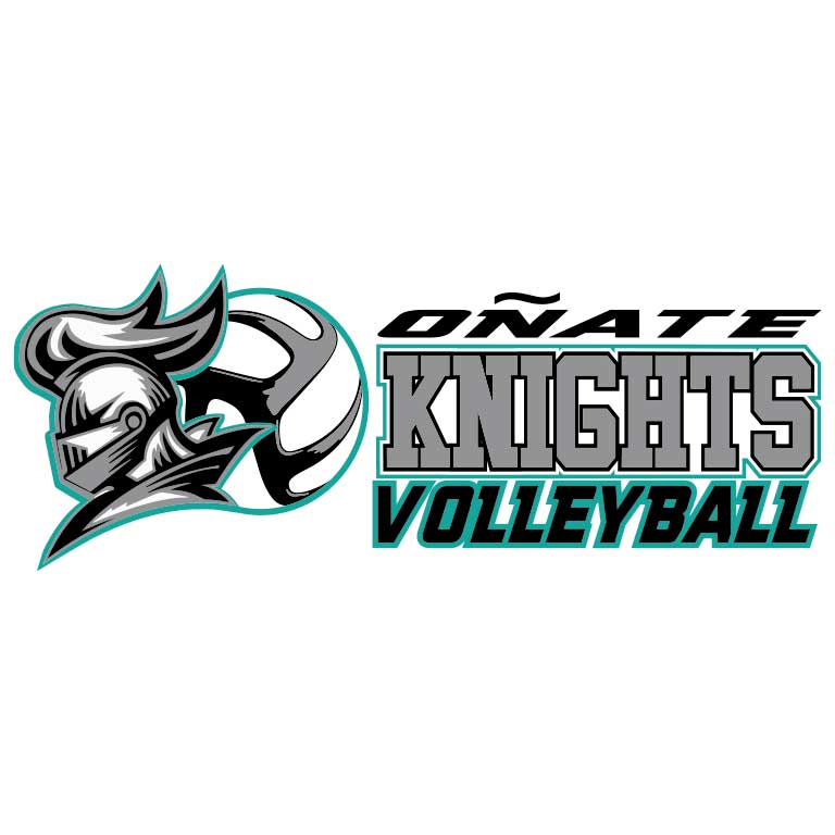 Onate High School Knights Volleyball Graphic Decal - Ragged Apparel Screen Printing and Signs - www.nmshirts.com