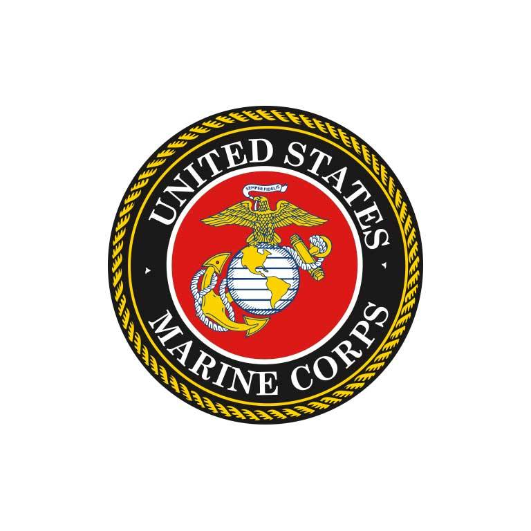 United States Marines Graphic Decal - Ragged Apparel Screen Printing and Signs - www.nmshirts.com