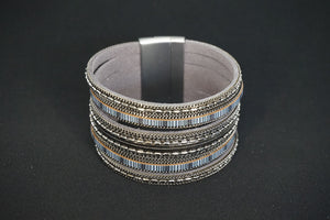 Bracelets, bangles or cuffs are worn on one wrist individually for a modern clean look or layered in complimenting metals, colours and textiles for a chic bohemian accent. Fun contemporary designs that compliment your personal style.
