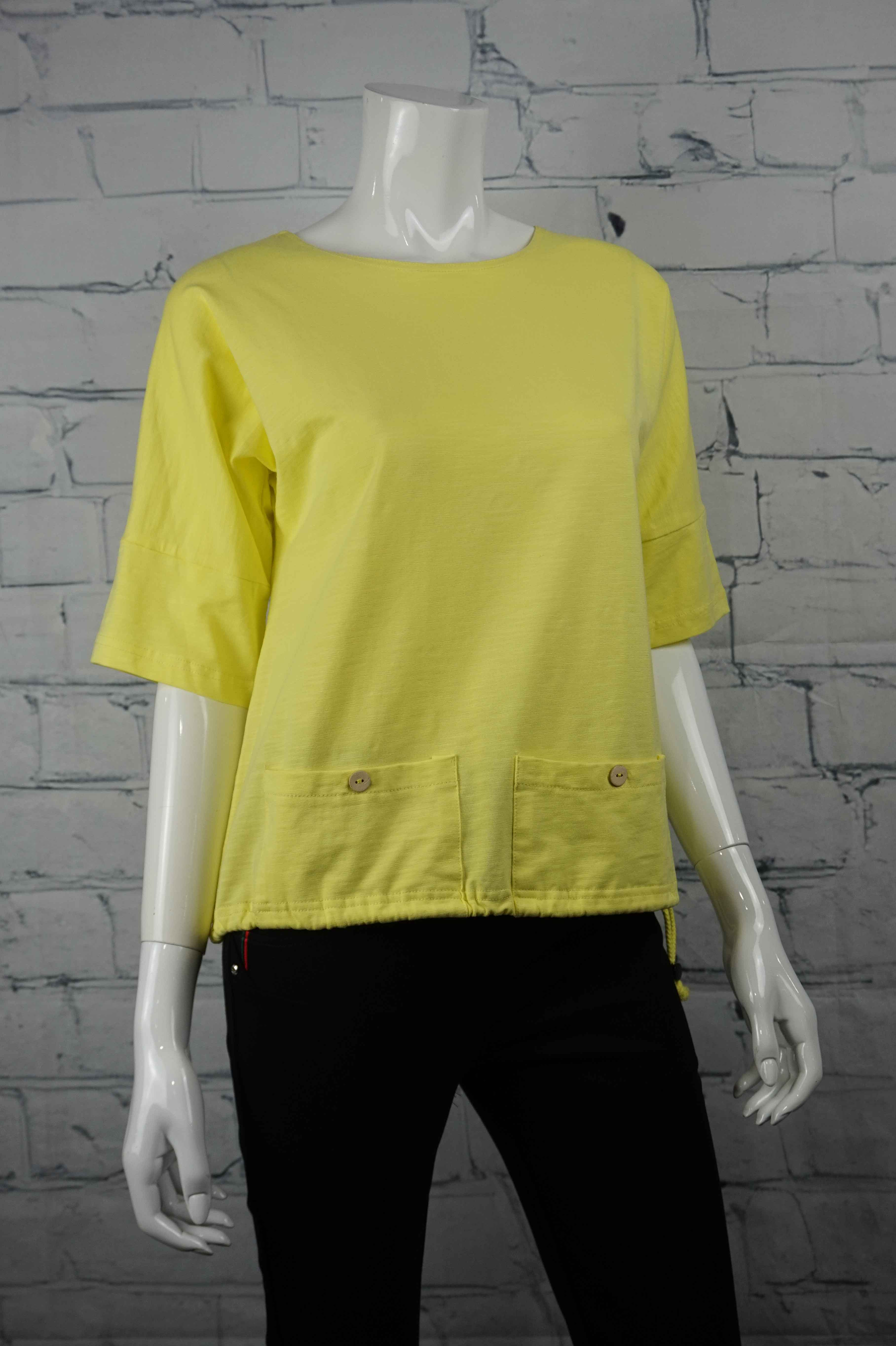 Petticoat Lane Low Pocket Top - Yellow