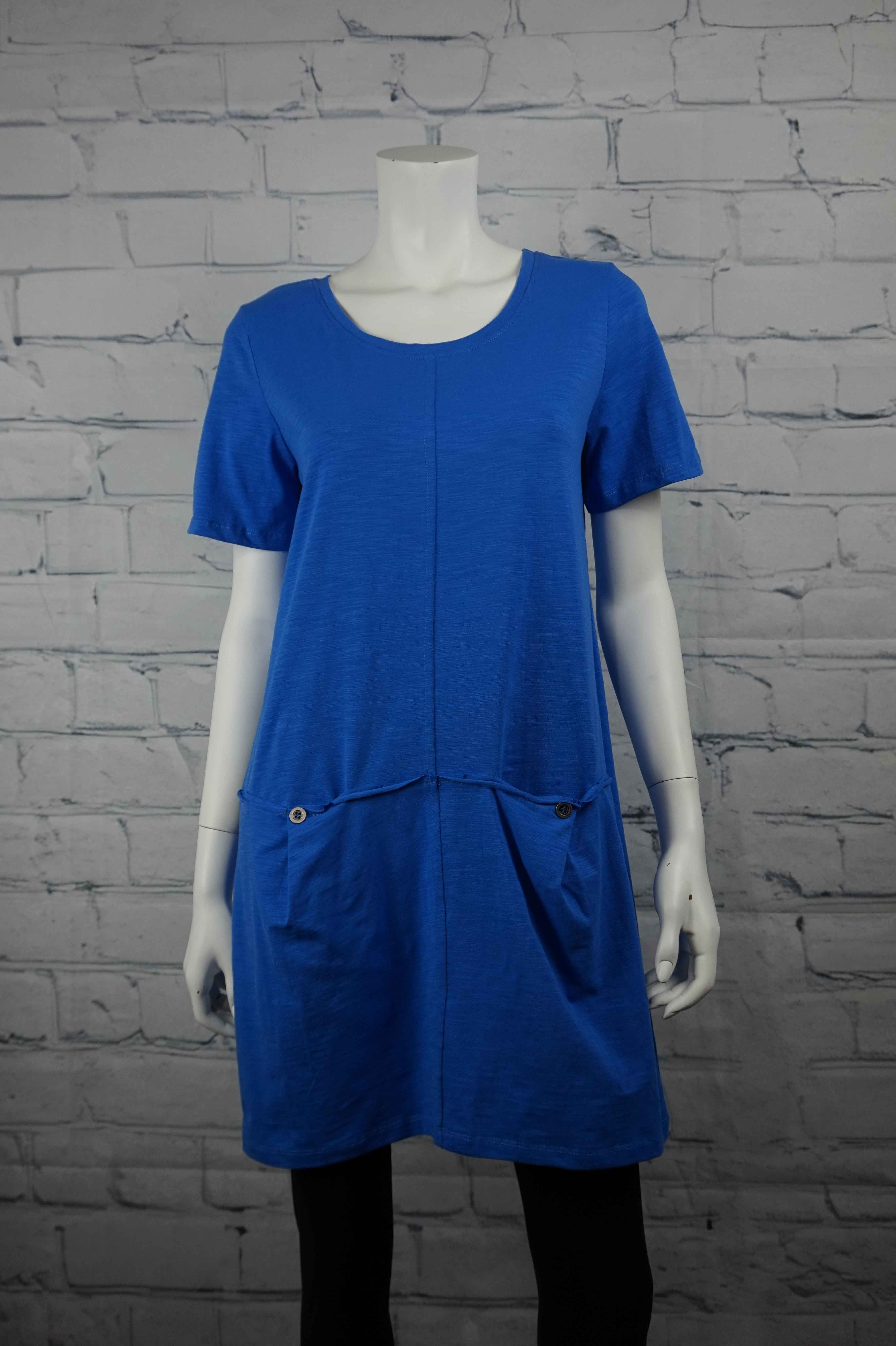 Petticoat Lane Deep Pocket Tunic/Dress - Royal