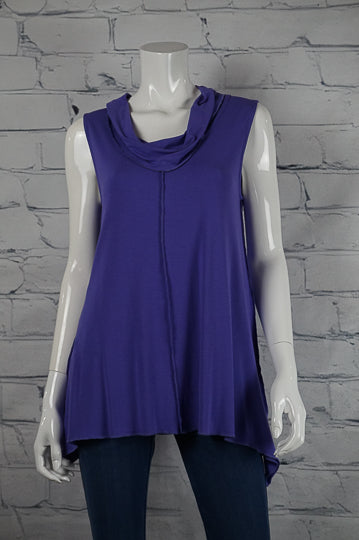 Bobbi Dazzler Cowl Tank - Purple