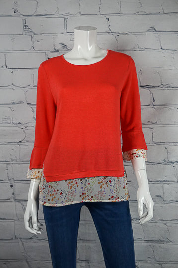 Bobbi Dazzler Chiffon Layered Top - Coral