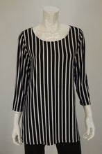 Load image into Gallery viewer, Bobbi Dazzler Basic Tunic - Black/White Stripe