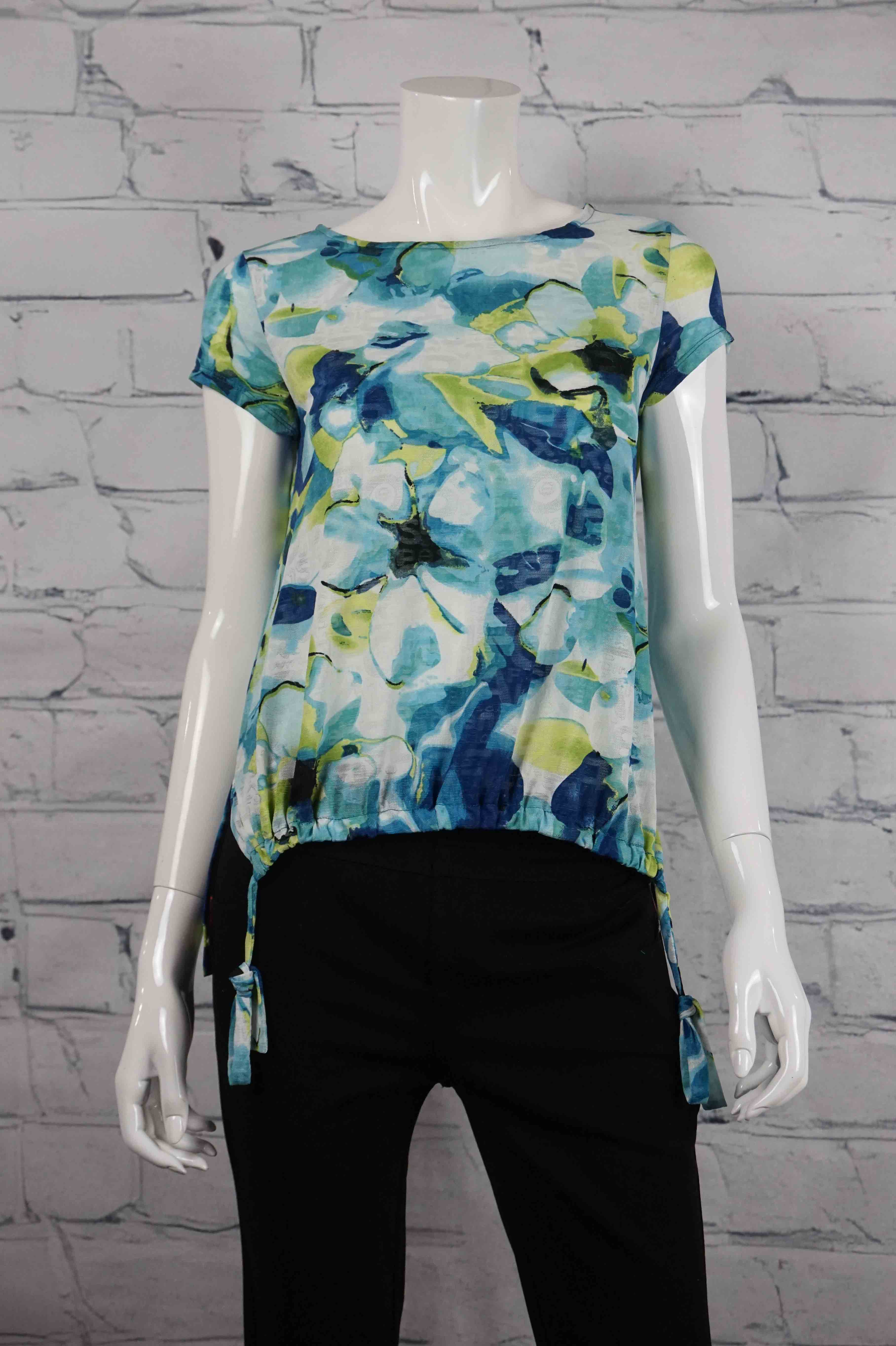 Let's Dance Side Tie Top - Floral