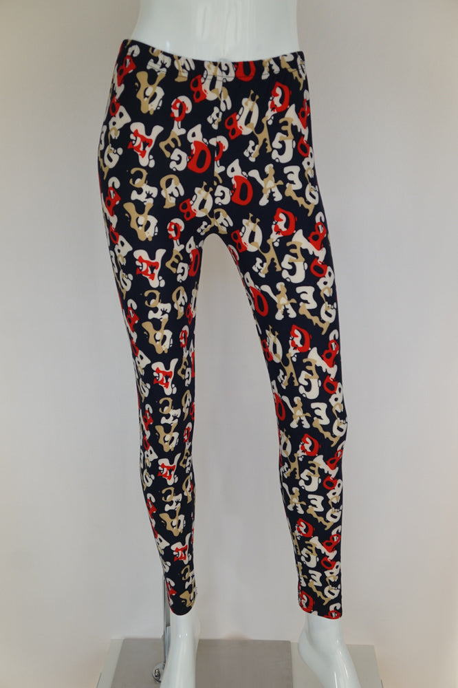 Luxxe full-length leggings are soft and stretchy with a high-waist and one-size fit. The fabric has a soft brushed texture that feels very comfortable next to the skin and they come in basic solids or fun prints that fit most ladies up to size 14.