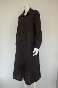 Paint It Black Long Pucker Shirt/Coat