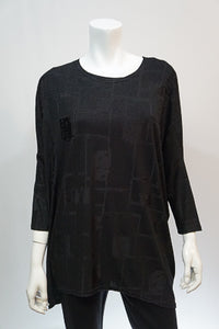 Paint It Black Tunic Top