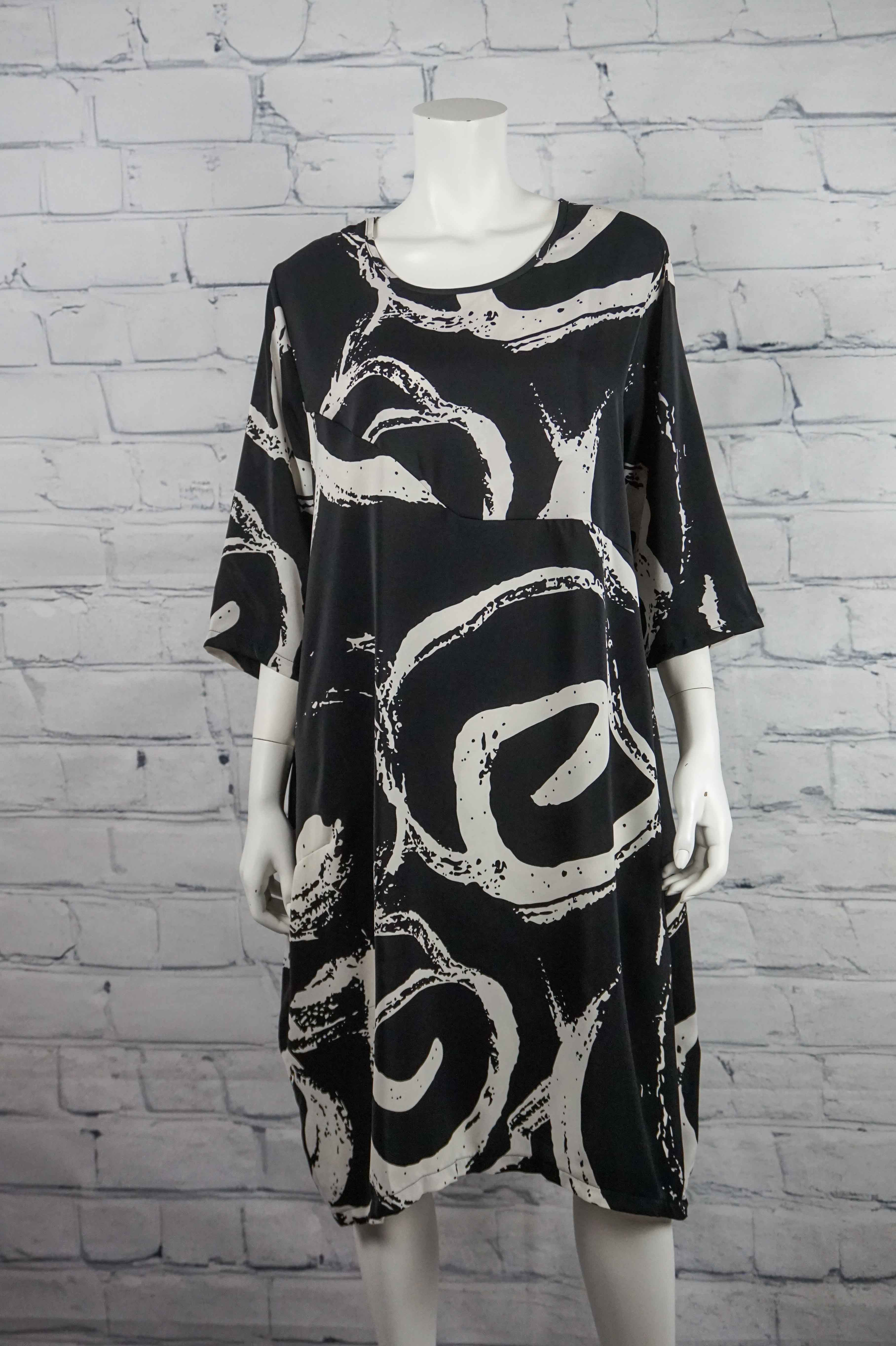 Paint It Black Swirly Dress