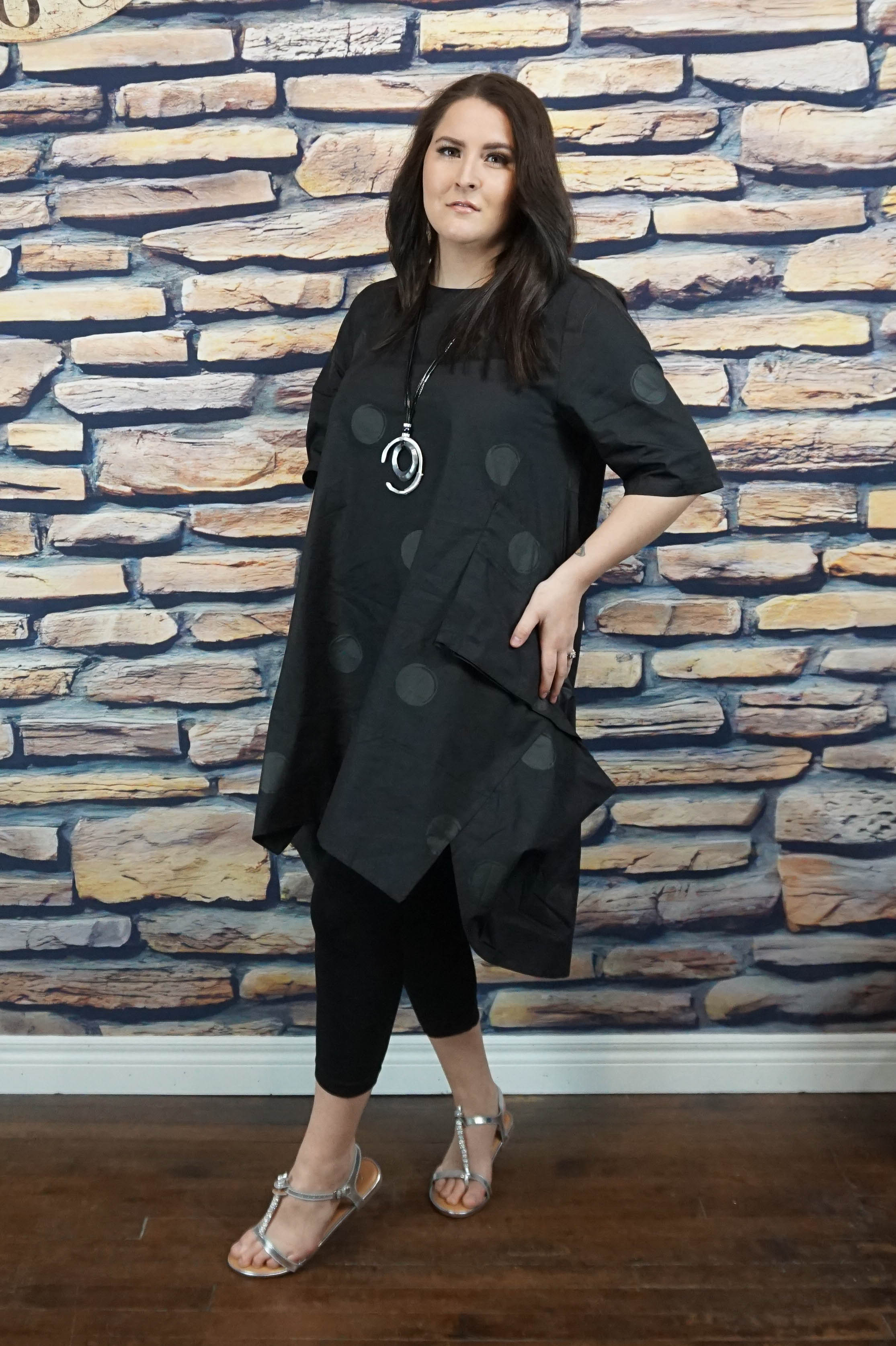 Paint It Black Dotty Tunic/Dress