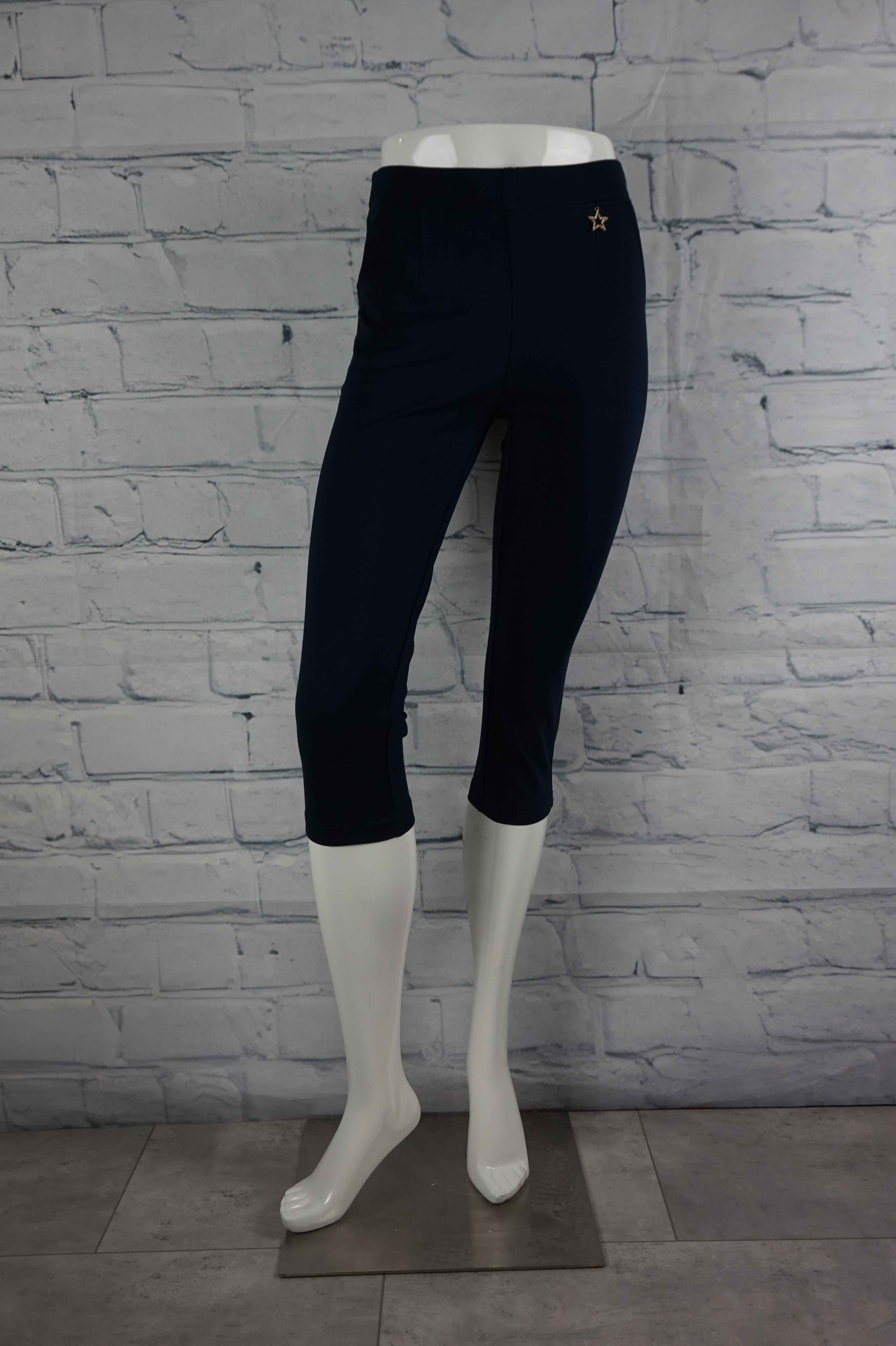 Perfect Pant Star Capri- Navy