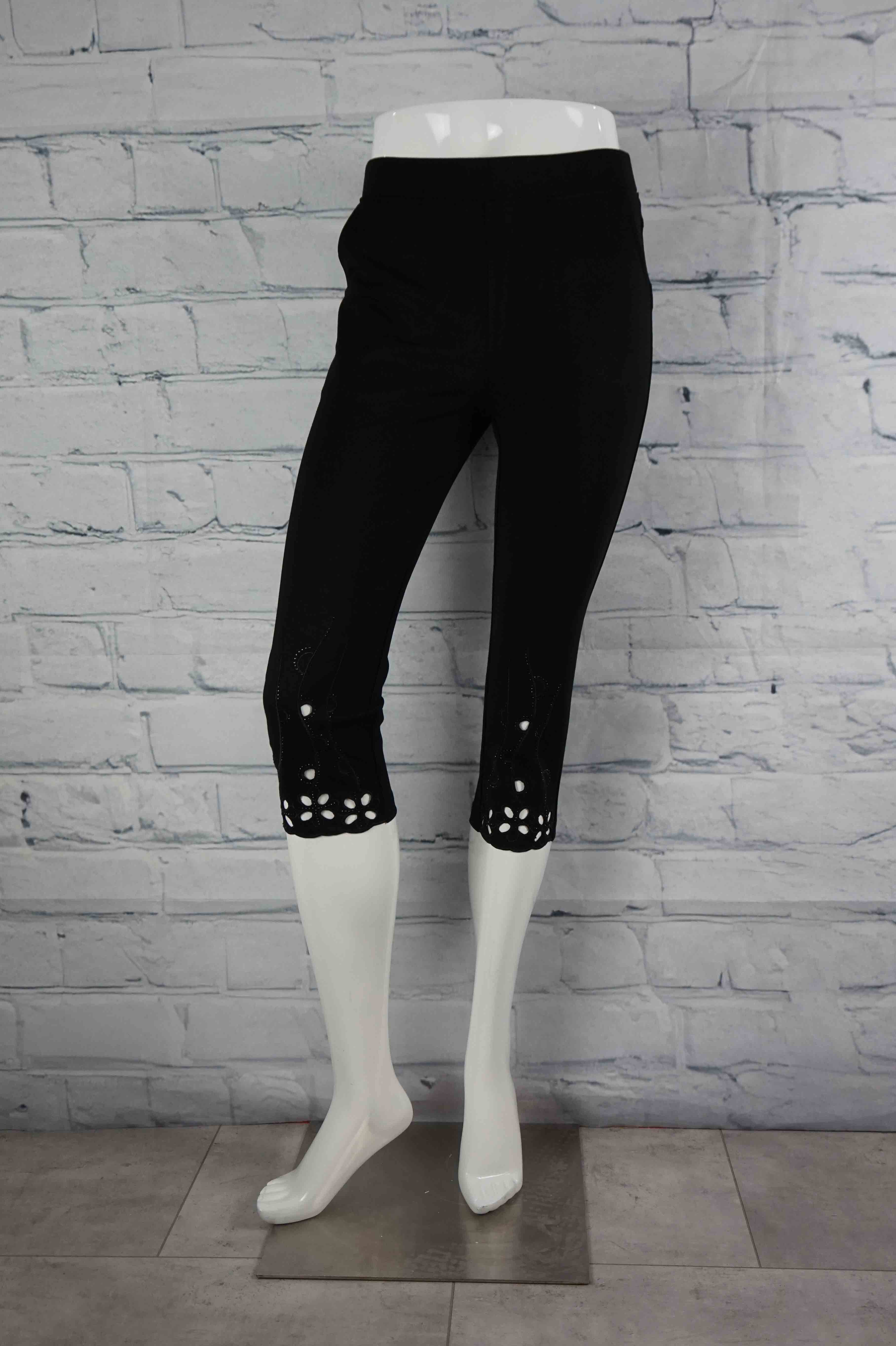 Perfect Pant Embellished Capri - Black