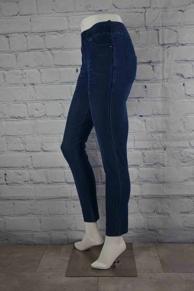 Perfect Pant Faux Fly Jean - Blue Denim