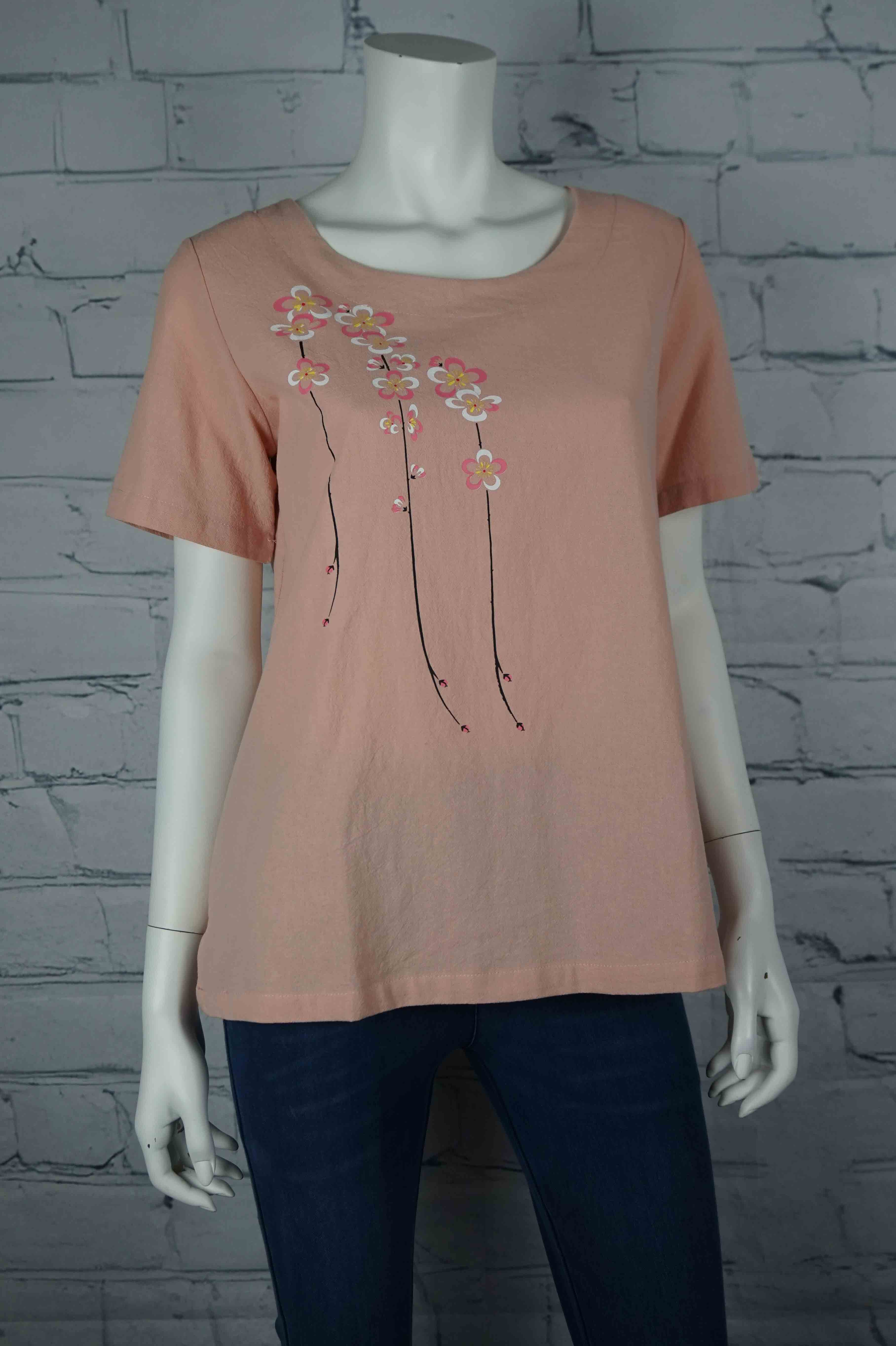 Portobello Road Cotton Top-Pink/Flower