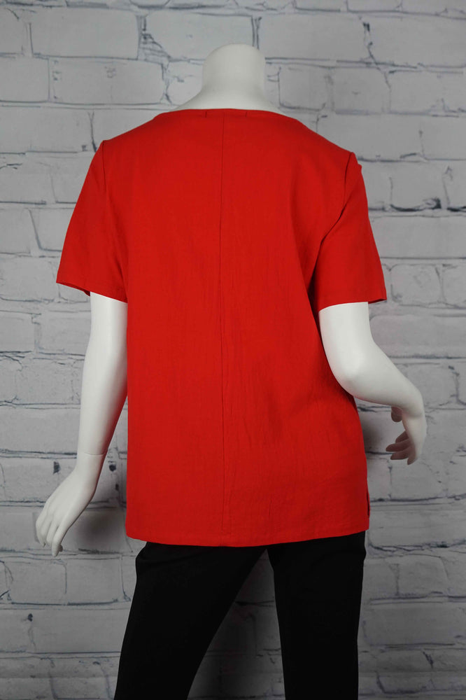 Portobello Road Cotton Top-Red/Bird