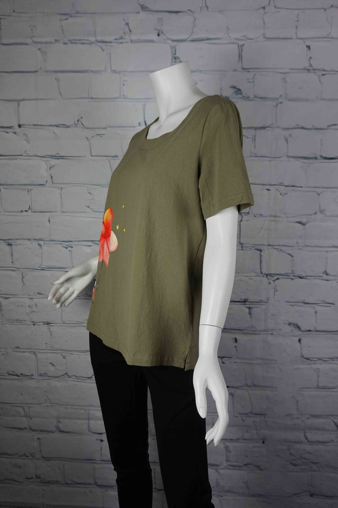 Portobello Road Cotton Top-Khaki/Fairy