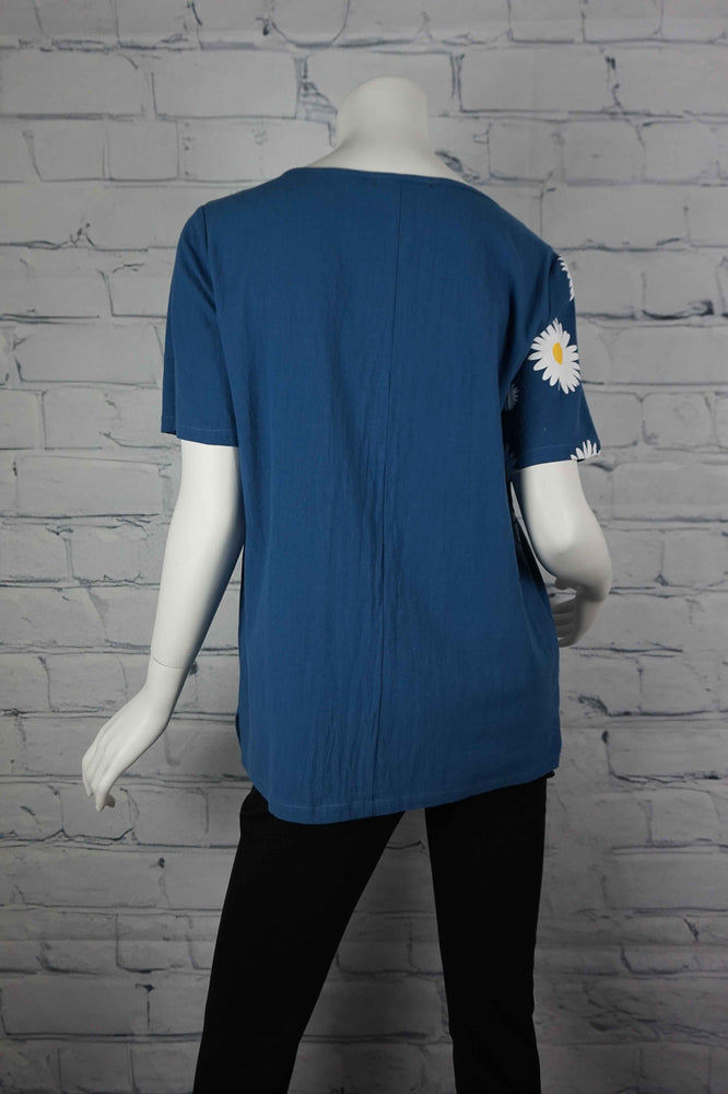 Portobello Road Cotton Top-Blu/Daisy