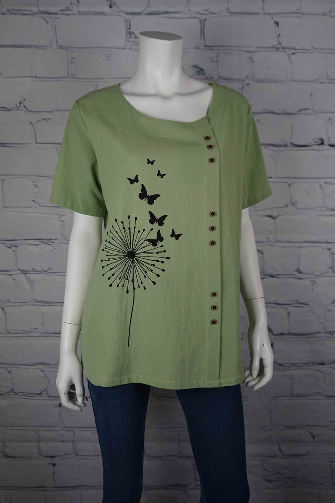 Portobello Road Cotton Top-Grn/Dandelion