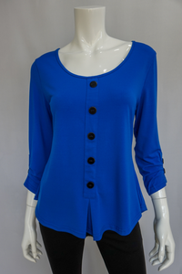 Bobbi Dazzler Button Henley
