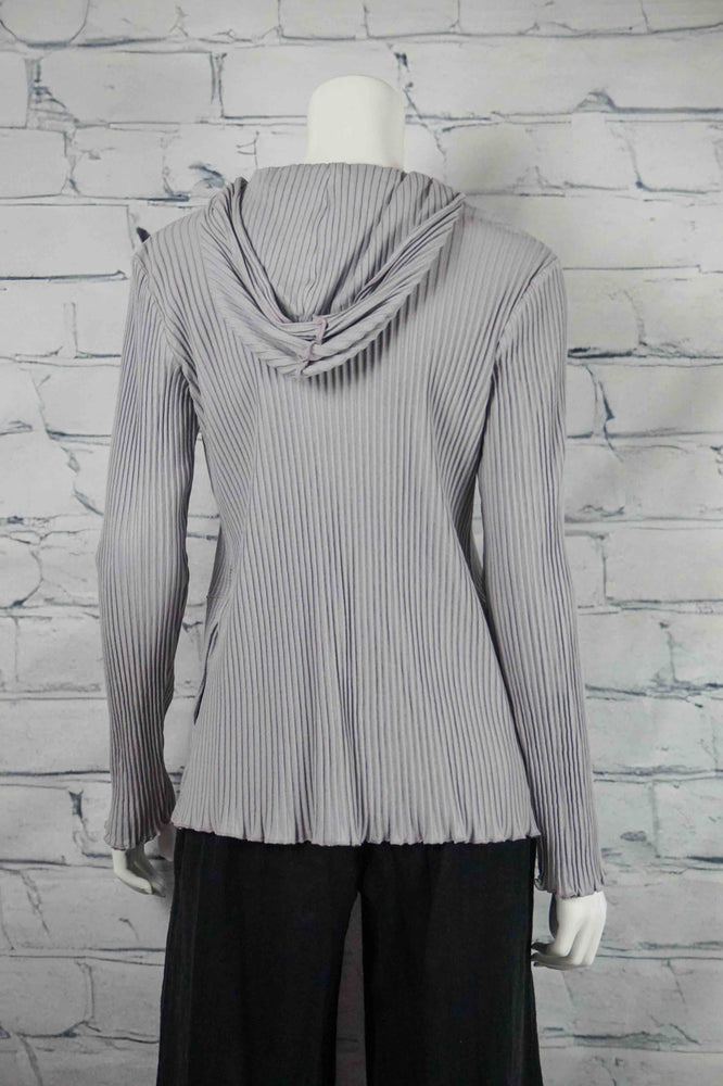 Fenini Cotton Hooded Jacket - Silver