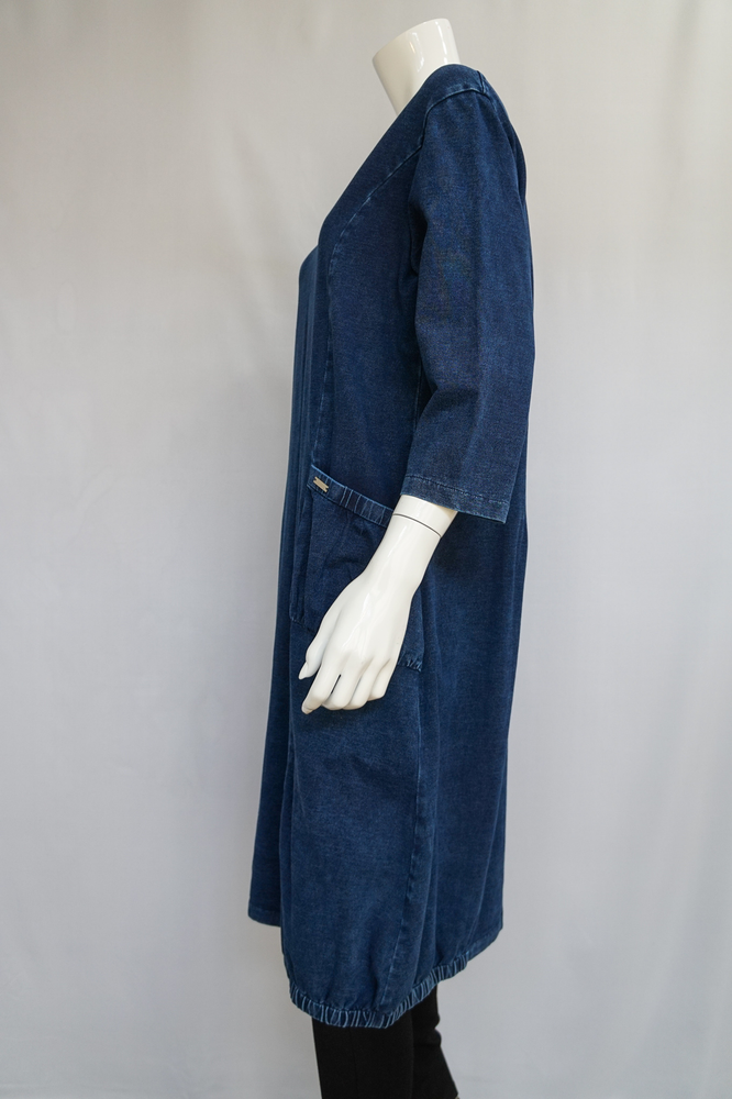Your Song Long Denim Pocket Dress