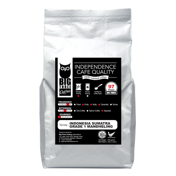 [BTC] Coffee Bean ~ Indonesia Mandheling (500g±/pkt)