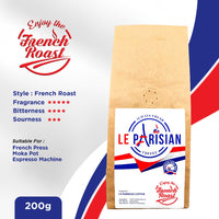 LE PARISIAN Bean French Roast 200g