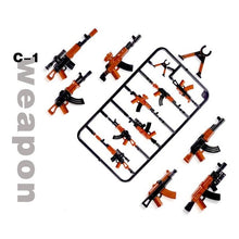 Load image into Gallery viewer, legoing Duploed Military set Army City Police Gun Weapons Series Pack City Soldiers SWAT Building Blocks toys for childrens kids