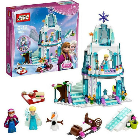 NEW 316pcs Legoings Friends Frozens Dream Princess Elsa Ice Castle Princess Anna Set Model Building Blocks Gifts Toys