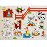 High quality 30CM animal digital letter hand grab board 3D puzzle Invigorating baby wooden toy