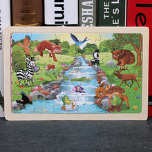 Load image into Gallery viewer, High quality  22.5 * 15 cm wooden large 24 cartoon animal baby puzzle children wooden educational toys girl boy