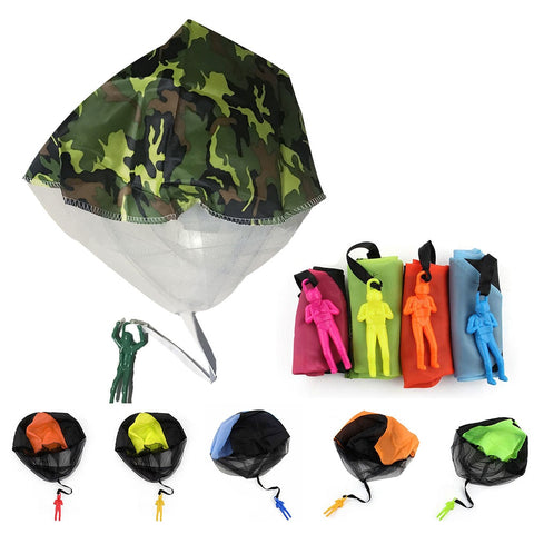 1pc Mini Soldier Parachute Toys For Kids Outdoor Game hand throwing parachute Fun Sports for Children Toy