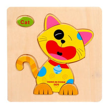 Load image into Gallery viewer, QWZ Baby Toys Wooden Puzzle Cute Cartoon Animal Intelligence Kids Educational Brain Teaser Children Tangram Shapes Jigsaw Gifts