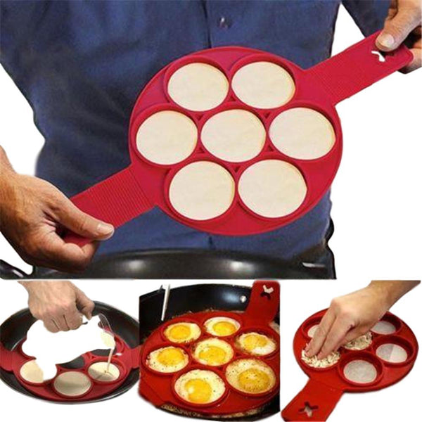 moules a pancakes silicone rouge