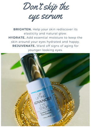 Awaken your eyes with Proexist Uplifting Eye Serum