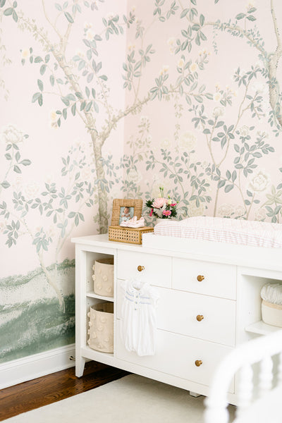 sophisticated nursery and changing table
