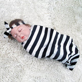 Newborn Baby Swaddle Wrap with Matching Headbands - Indoor Therapy